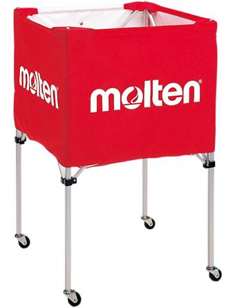 バスケットアクセサリー  モルテン Molten 折りたたみ式ボールカゴ 中背高 Red