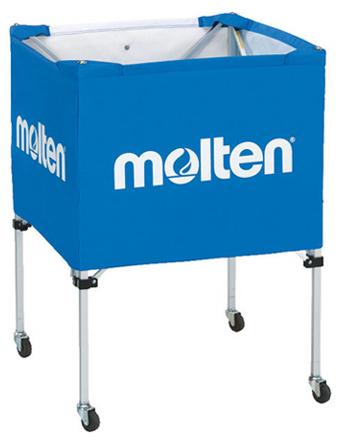 バスケットアクセサリー  モルテン Molten 折りたたみ式ボールカゴ 中背低 Blu