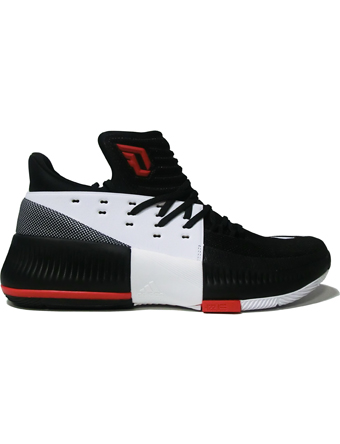 バスケットシューズ バッシュ  アデイダス Adidas D Lillard 3 Blk/Wht