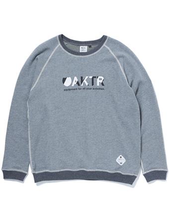 バスケットスウェット ウェア 秋冬物 アクター AKTR CREW NECK SWEAT SHIRTS H-GRAY  【MEN'S】