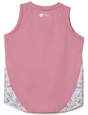 供小籃球運動衫女士服裝演員AKTR X-girl Sports X AKTR GAME TANK PINK烏人型號女性使用的服飾