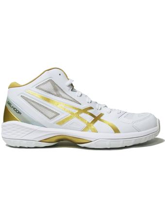 バスケットシューズ バッシュ  アシックス Asics Gel Hoop V 9 Wht/Gold