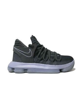 バスケットシューズ ジュニア キッズ バッシュ  ナイキ Nike KD 10 GS GS C.Gry/Igloo/Wht  【GS】キッズ