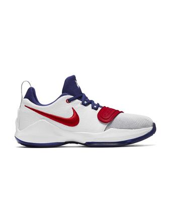 バスケットシューズ ジュニア キッズ バッシュ  ナイキ Nike PG 1 GS GS Wht/U.Red/D.Royal  【GS】キッズ