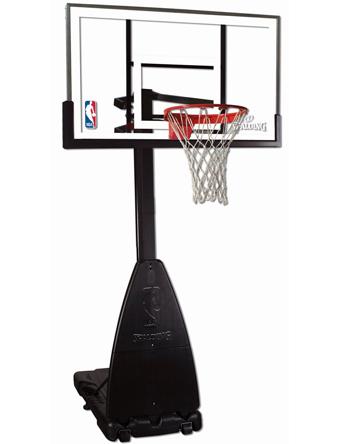 バスケットバックボード  スポルディング Spalding Platinum Portable Basketgoal Clear