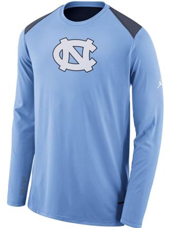バスケットロング Tシャツ ウェア  ジョーダン ナイキ Jordan Jordan College L/S Shooter Shirt North Carolina  ストリート 【MEN'S】