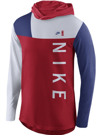Tシャツ ウェア  ナイキ Nike Colorblocking Hoodie Tee Wht/Blu/U.Red  ランニング トレーニング ストリート 【MEN'S】