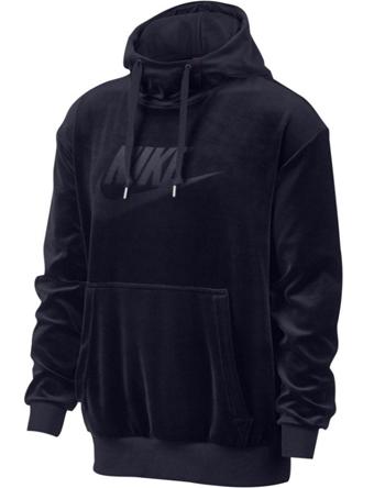 バスケットパーカー ウェア 秋冬物 ナイキ Nike Velour Pullover Hoodie Obsidian  ランニング トレーニング ストリート 【MEN'S】