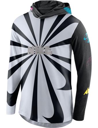 バスケットロング Tシャツ ウェア  ナイキ Nike Pinwheel Hooded Long Sleeve Tee Wht  ランニング トレーニング ストリート 【MEN'S】