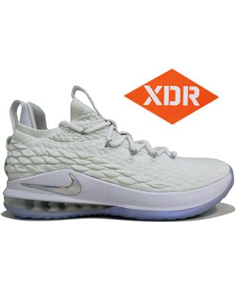 バスケットシューズ バッシュ スニーカー  ナイキ Nike Lebron 15 Low EP Wht/M.Sil  ストリート