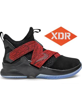バスケットシューズ バッシュ  ナイキ Nike Lebron Soldier XII EP Blk/G.Red