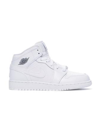 バスケットシューズ ジュニア キッズ バッシュ スニーカー  ナイキ Nike Air Jordan 1 Mid GG GS Wht/Blk  ストリート 【GS】キッズ