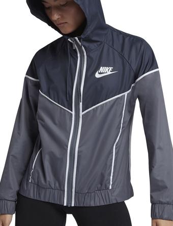 ジャケット ジュニア レディーズ ウェア 秋冬物 ナイキ Nike Wmns Windrunner Blk/Wht ウーメンズモデル 女性用  ランニング トレーニング ストリート 【WOMEN'S】アパレル