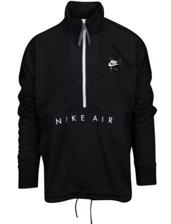 バスケットジャケット ウェア 秋冬物 ナイキ Nike Air Half Zip Top Blk/Wht  ランニング トレーニング ストリート 【MEN'S】
