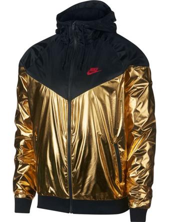 バスケットジャケット ウェア 秋冬物 ナイキ Nike Metallic Windrunner M.Gold/U.Red  ランニング トレーニング ストリート 【MEN'S】