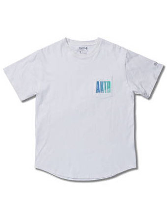 バスケットTシャツ ウェア  アクター AKTR GLOW POCKET TEE Wht  【MEN'S】