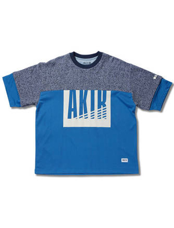 バスケットTシャツ ウェア  アクター AKTR MESH CUT SEW Blu/Nvy  【MEN'S】