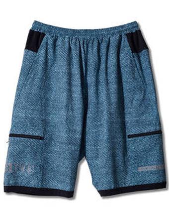 バスケットショーツ バスパン ウェア  アクター AKTR TWB CLOTH PATTERN SHORTS Gry  【MEN'S】