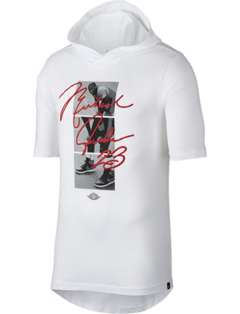 バスケットTシャツ ウェア  ジョーダン ナイキ Jordan Jordan JSW Signature MJ Hooded Tee Wht/Red  ランニング トレーニング ストリート 【MEN'S】
