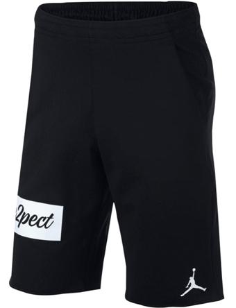 ショーツ バスパン ウェア  ジョーダン ナイキ Jordan Jordan Re2pect Flight Fleece Shorts Blk/Wht  ランニング トレーニング ストリート 【MEN'S】