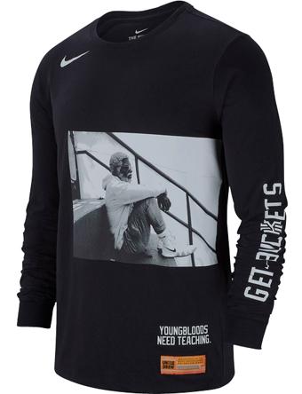バスケットロング Tシャツ ウェア  ナイキ Nike Kyrie Uncle Drew L/S Tee Blk  ストリート 【MEN'S】