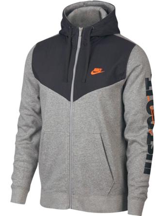 バスケットパーカー ウェア 秋冬物 ナイキ Nike JDI Fleece Full-Zip Hoodie D.Gry Heather/Anthracite/Cone  ランニング トレーニング ストリート 【MEN'S】