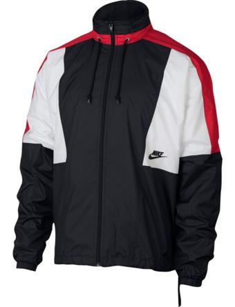 バスケットジャケット ウェア 秋冬物 ナイキ Nike Woven Re-Issue Jacket Blk/U.Red/S.Wht  ランニング トレーニング ストリート 【MEN'S】