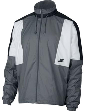 バスケットジャケット ウェア 秋冬物 ナイキ Nike Woven Re-Issue Jacket C.Gry/Blk/S.Wht  ランニング トレーニング ストリート 【MEN'S】