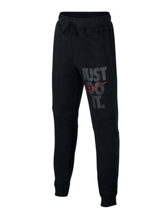 パンツ ジュニア キッズ ウェア 秋冬物 ナイキ Nike Just Do It Jogger Kids GS Blk/Wht  ランニング トレーニング ストリート 【BOY'S】 キッズ アパレル