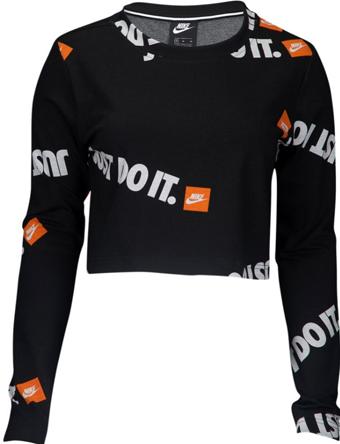 スウェット ジュニア レディーズ ウェア 秋冬物 ナイキ Nike JDI Anniversary Long Sleeve Top Wmns GS Blk/Wht/Org ウーメンズモデル 女性用  ランニング トレーニング ストリート 【WOMEN'S】アパレル