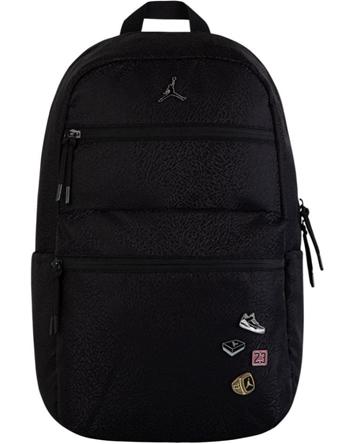 バスケットバッグ バックパック リュック ジョーダン ナイキ Jordan Jordan Pin Backpack Blk/Wht  ストリート