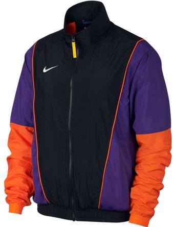 ジャケット ウェア 秋冬物 ナイキ Nike Throwback Woven Jacket Blk/F.Purp/B.Orag/Wht  ストリート 【MEN'S】