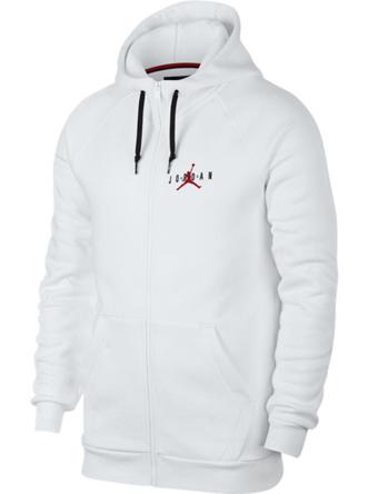 バスケットパーカー ウェア 秋冬物 ジョーダン ナイキ Jordan Jordan Jumpman Air HBR Full Zip Fleece Wht/G.Red  ストリート 【MEN'S】