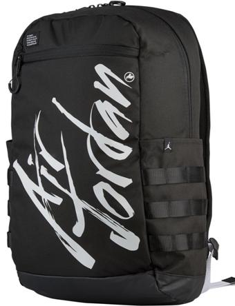 バスケットバッグ バックパック リュック ジョーダン ナイキ Jordan Air Jordan Script Backpack Blk/Wht  ストリート