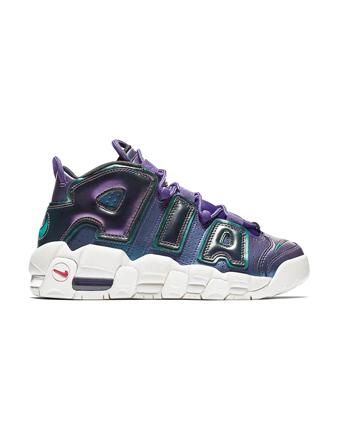 バスケットシューズ ジュニア キッズ バッシュ スニーカー  ナイキ Nike Air more Uptempo GS GS C.Purple/R.Pink/N.Grn  ストリート 【GS】キッズ
