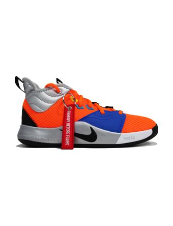 バスケットシューズ ジュニア キッズ バッシュ  ナイキ Nike PG 3 x NASA GS GS T.Org/Blk/M.Sil  【GS】キッズ