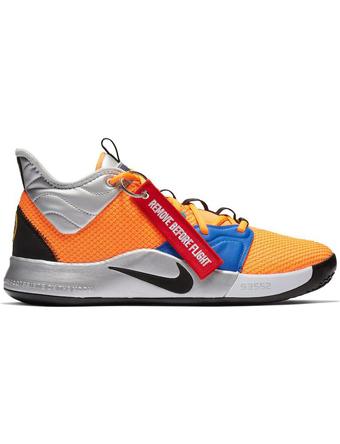 バスケットシューズ バッシュ  ナイキ Nike PG 3 x NASA Org/Blk/M.Sil