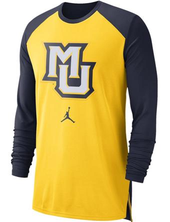 バスケットロング Tシャツ ウェア  ジョーダン ナイキ Jordan Jordan College L/S Breathe Shooter Shirt Golden Eagles  ランニング トレーニング 【MEN'S】
