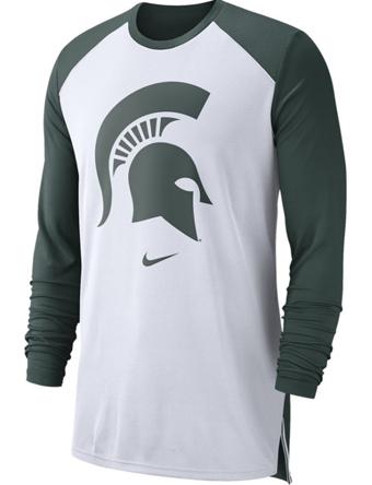 バスケットロング Tシャツ ウェア  ナイキ Nike Nike College L/S Breathe Shooter Shirt Spartans  ランニング トレーニング 【MEN'S】