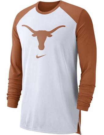 バスケットロング Tシャツ ウェア  ナイキ Nike Nike College L/S Breathe Shooter Shirt Longhorns  ランニング トレーニング 【MEN'S】