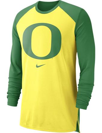 バスケットロング Tシャツ ウェア  ナイキ Nike Nike College L/S Breathe Shooter Shirt Ducks  ランニング トレーニング 【MEN'S】