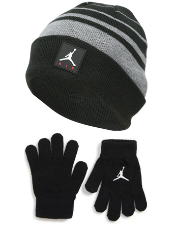 48263b70dd1f77 Basket cap beanie youth kids Jordan Nike Jordan Jordan Air Beanie and  Gloves Set Blk running training strike Toko Lee thing
