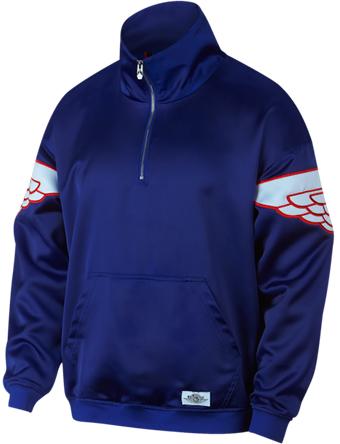 バスケットジャケット ウェア 秋冬物 ジョーダン ナイキ Jordan Jordan Wings Classic Quarter-Zip Jacket D.R.Blu/H.Blu/U.Red  ストリート 【MEN'S】