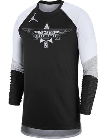 バスケットTシャツ ウェア  ジョーダン ナイキ Jordan Jordan NBA All-Star Game Shooting Shirt Blk/Wht  ストリート 【MEN'S】