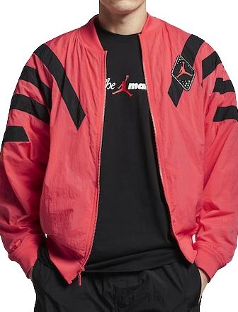 バスケットジャケット ウェア 秋冬物 ジョーダン ナイキ Jordan Jordan Retro 6 Nylon Jacket E.Glow/Blk  ストリート 【MEN'S】