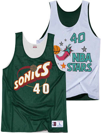 バスケットノースリーブ タンクトップ ウェア  ミッチェルアンドネス Mitchell&Ness Reversible Mesh Tank All-Star 1996 Kemp  ストリート 【MEN'S】