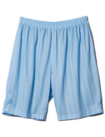 バスケットショーツ バスパン ウェア アクター AKTR BRUSH PINSTRIPE MESH SHORTS LIGHT BLUE 【MEN'S】