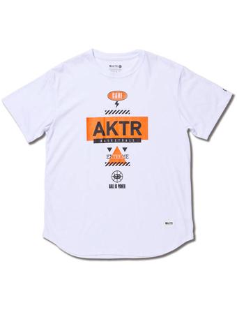 豊富な種類から選べる バスケットTシャツ キャンペーンもお見逃しなく ウェア アクター AKTR TEE EXTREME MEN'S ICON 正規品スーパーSALE×店内全品キャンペーン WHITE