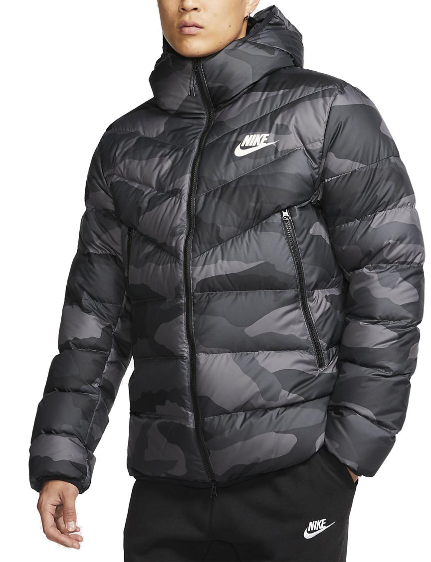 バスケットジャケット ウェア 秋冬物 ナイキ Nike Nike Fill Down Windrunner AOP Hoodie JKT D.Gry/Blk  ストリート 【MEN'S】