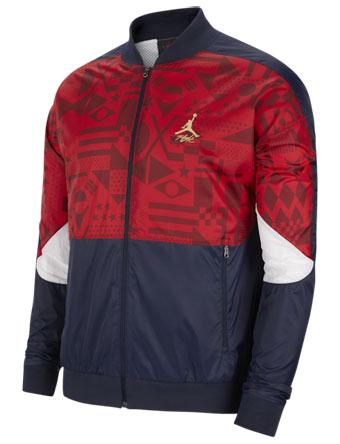 バスケットジャケット ウェア 秋冬物 ジョーダン Jordan Jordan Legacy Jacket Obsidian/G.Red/M.Gld  ランニング トレーニング ストリート 【MEN'S】